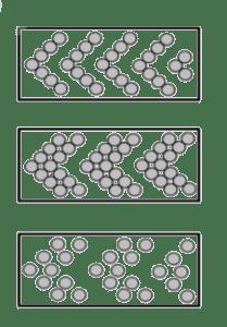 pfeilförmiger Besatz Leistenbürste