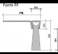 Abdichtbürste FF Maße