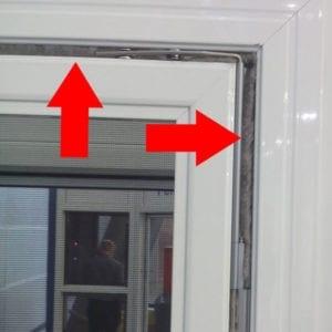 Bürstendichtungen in Fensterrahmen