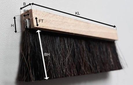 Holz U-Profil Maße
