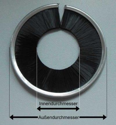 Streifenbürste ringförmig Maße