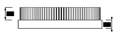 Tellerbürste Seitenansicht Maße