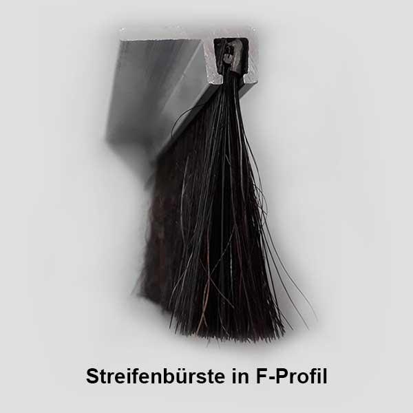 Streifenbürste F-Profil