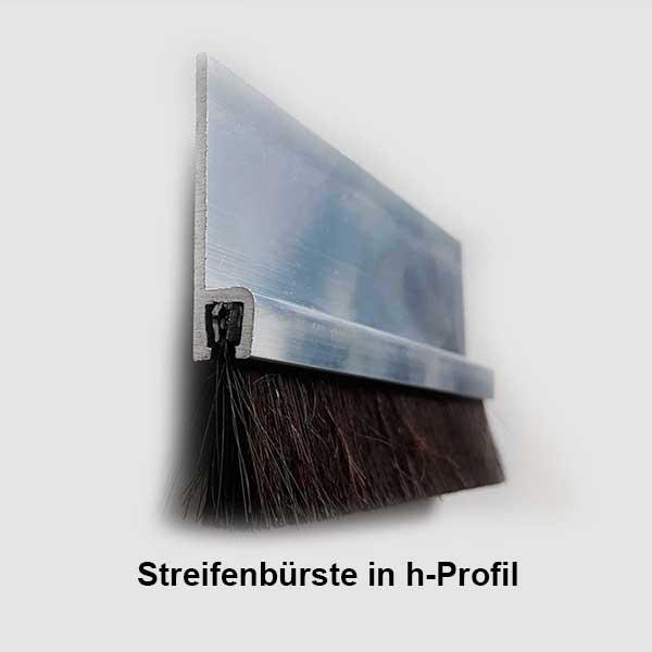 Streifenbürste h-Profil
