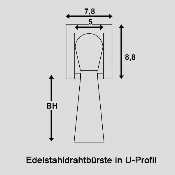 Edelstahldrahtbürste-in-U-Profil