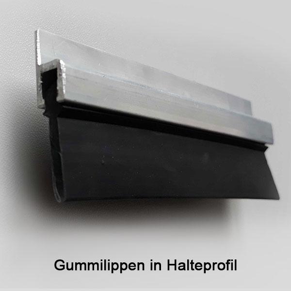 Gummilippen in Halteprofil